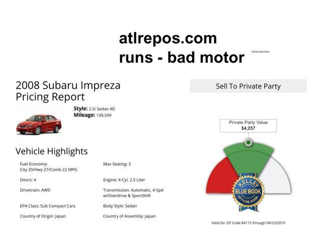 2008 Subaru Impreza i Salt Lake City, UT
