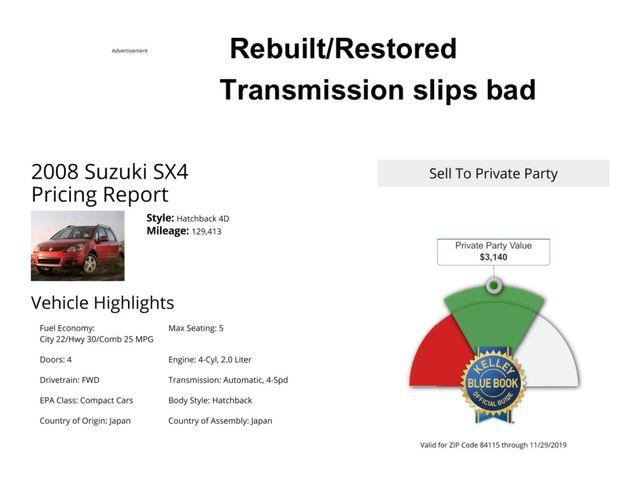 2008 Suzuki SX4 Regional Edition Salt Lake City, UT