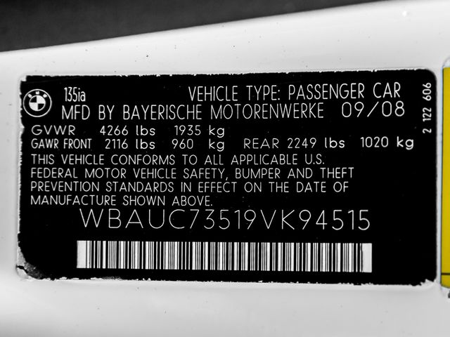 2009 BMW 135i M-SPORT PACKAGE Burbank, CA 25