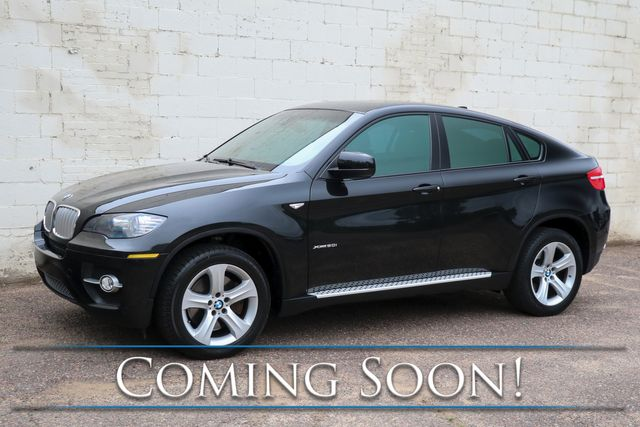 "2009 BMW X6 xDrive50i AWD V8 Crossover w/Sport Pkg, Nav, Moonroof, DVD Entertainment System & 19"" Rims"