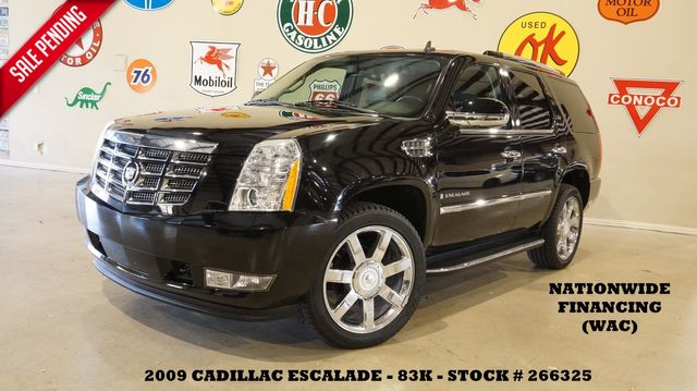 2009 Cadillac Escalade ROOF,NAV,REAR DVD,HTD/COOL LTH,CHROME 22'S,83K