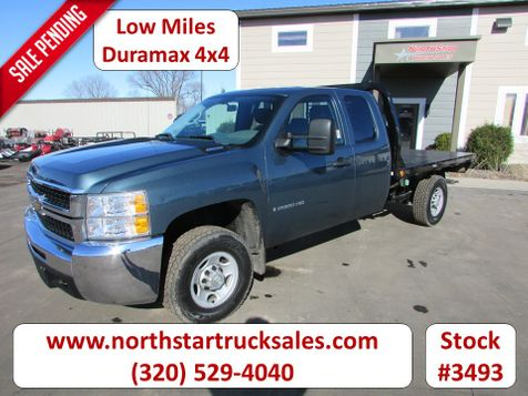 2009 Chevrolet 2500HD Duramax 4x4 Ext-Cab Flatbed Truck  in St Cloud, MN