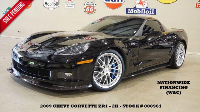 2009 Chevrolet Corvette ZR1 w/1ZR 6 SPD,HUD,CARBON FIBER,LEATHER,2K!