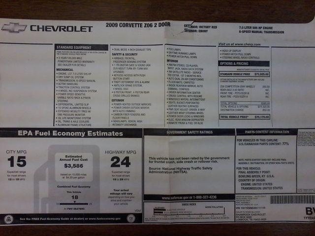 2009 Chevrolet Corvette Z06 w/1LZ San Antonio, Texas 37