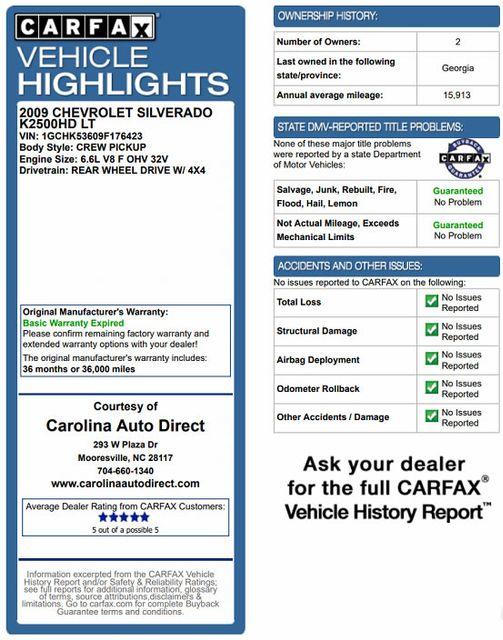 2009 Chevrolet Silverado 2500HD LT Crew Cab 4x4 Z71 - LEATHER! Mooresville , NC 2