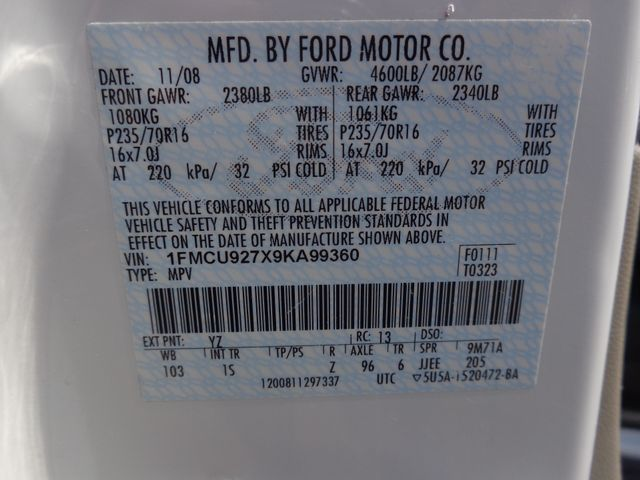 2009 Ford Escape XLS Hoosick Falls, New York 7