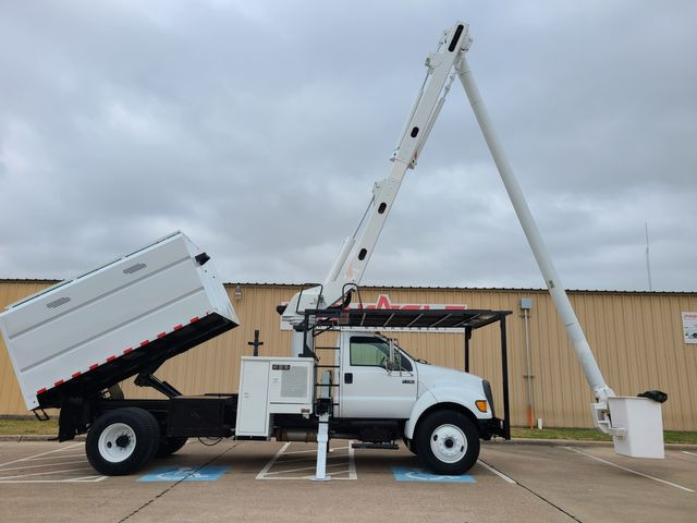 2009 Ford F-750 CUMMINS DEISEL ALTEC BUCKET TRUCK XL F750 ALTEC LRV56 FORESTRY TRUCK WITH DUMP BED