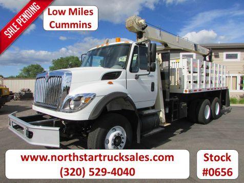 2009 International Workstar 7600 Cummins Flatbed Crane Truck  in St Cloud, MN