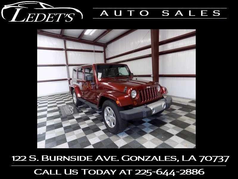 2009 Jeep Wrangler Unlimited Sahara - Ledet's Auto Sales Gonzales_state_zip in Gonzales Louisiana