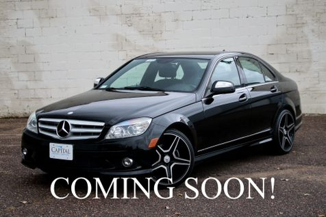 2009 Mercedes-Benz C300 Sport 4Matic AWD Luxury Sedan with 18-Inch AMG Wheels, Heated Seats & Moonroof in Eau Claire