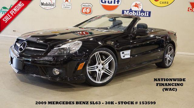 2009 Mercedes-Benz SL63 AMG CONV. PANO ROOF,P1 PKG,NAV,HTD/COOL LTH,30K
