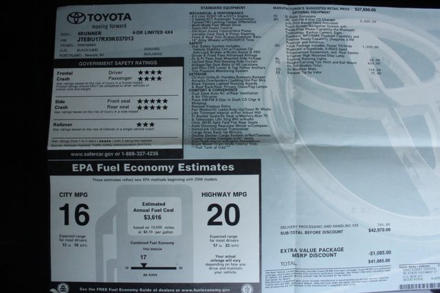 2009 Toyota 4Runner Limited 4WD Kensington, Maryland 108