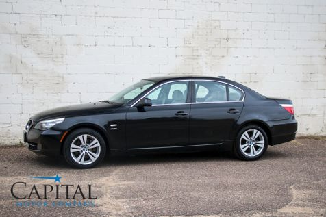 2010 BMW 528xi xDrive AWD with Heated Steering Wheel, Heated Seats, Moonroof & Gorgeous 2-Tone Interior in Eau Claire
