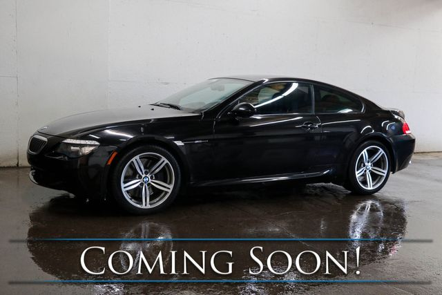 "2010 BMW M6 Coupe with 507HP V10, Carbon Fiber Roof, Navigation, 13-Speaker Audio System and 19"" Wheels in Eau Claire, Wisconsin 54703"