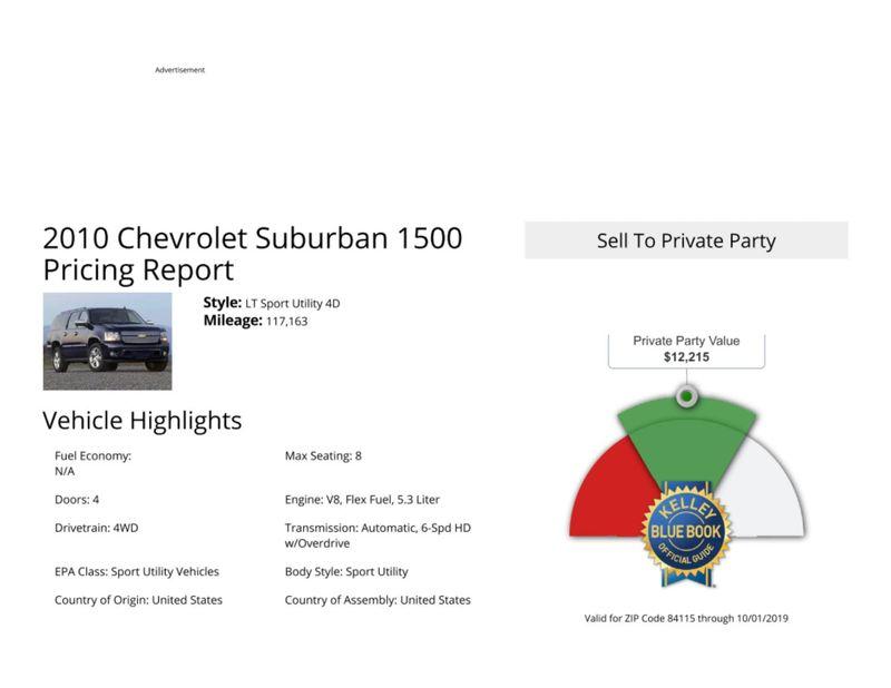 2010 Chevrolet Suburban LT  in Salt Lake City, UT