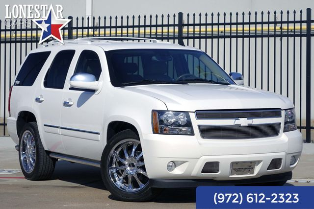 "2010 Chevrolet Tahoe LTZ Clean Carfax One Owner 22"" Wheels Quad Buckets"