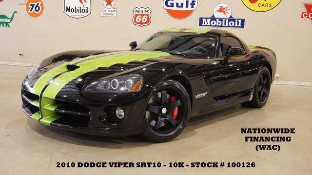2010 Dodge Viper SRT10 Coupe 6 SPD,LEATHER,BLK WHLS,10K,WE FINANCE