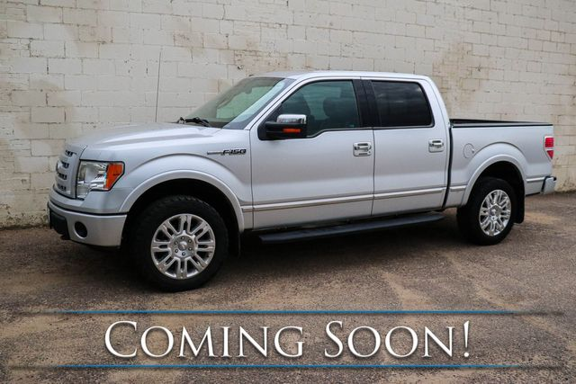 2010 Ford F-150 Platinum Crew Cab 4x4 w/Navigation, Backup Cam, Moonroof, Heated/Cooled Seats & 20s in Eau Claire, Wisconsin 54703