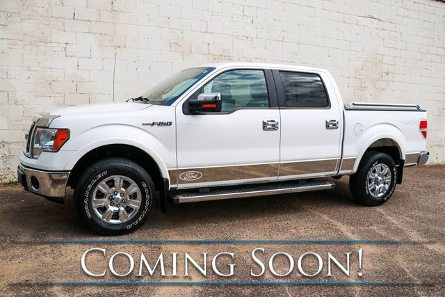 2010 Ford F-150 Lariat Crew Cab 4x4 w/Navigation, Heated/Cooled Seats, Moonroof & Sony Audio