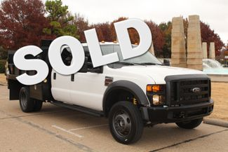 2010 Ford F-450 Crew Cab Flatbed Stake Bed Contractor Work Truck W/ Lift Irving, Texas