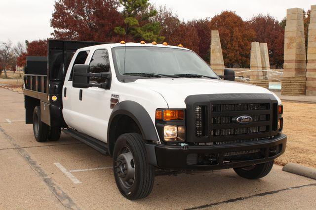 2010 Ford F-450 Crew Cab Flatbed Stake Bed Contractor Work Truck W/ Lift Irving, Texas 1