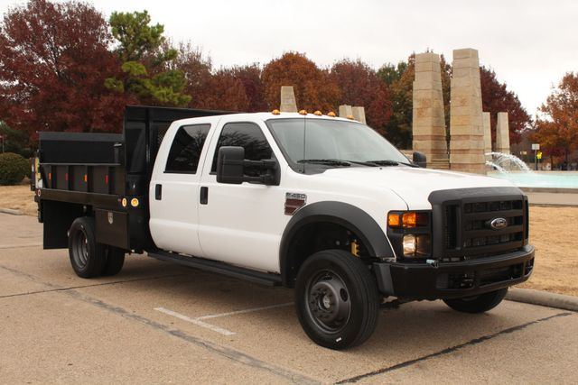 2010 Ford F-450 Crew Cab Flatbed Stake Bed Contractor Work Truck W/ Lift Irving, Texas 15