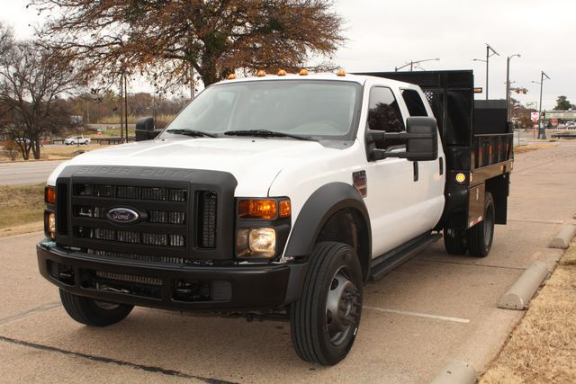 2010 Ford F-450 Crew Cab Flatbed Stake Bed Contractor Work Truck W/ Lift Irving, Texas 3