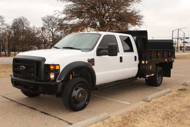 2010 Ford F-450 Crew Cab Flatbed Stake Bed Contractor Work Truck W/ Lift Irving, Texas 4