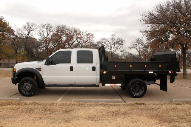 2010 Ford F-450 Crew Cab Flatbed Stake Bed Contractor Work Truck W/ Lift Irving, Texas 5