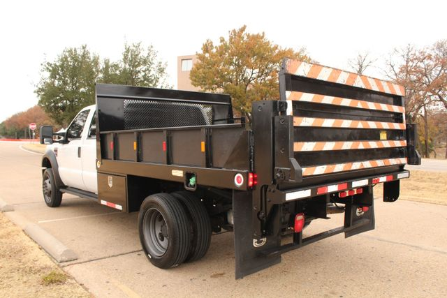2010 Ford F-450 Crew Cab Flatbed Stake Bed Contractor Work Truck W/ Lift Irving, Texas 9
