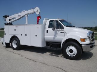2010 Ford F750 10,000LBS UTILITY SERVICE CRANE TRUCK Lake In The Hills, IL
