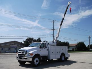 2010 Ford F750 10,000LBS UTILITY SERVICE CRANE TRUCK Lake In The Hills, IL 11