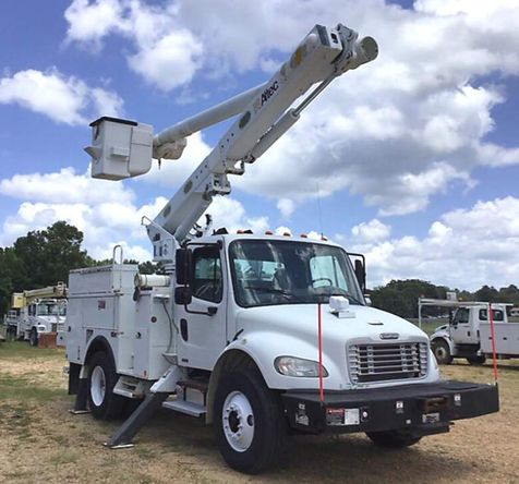 2010 Freightliner M2  ALTEC 47FT BUCKET TRUCK WITH MATERIAL HANDLER in Fort Worth, TX