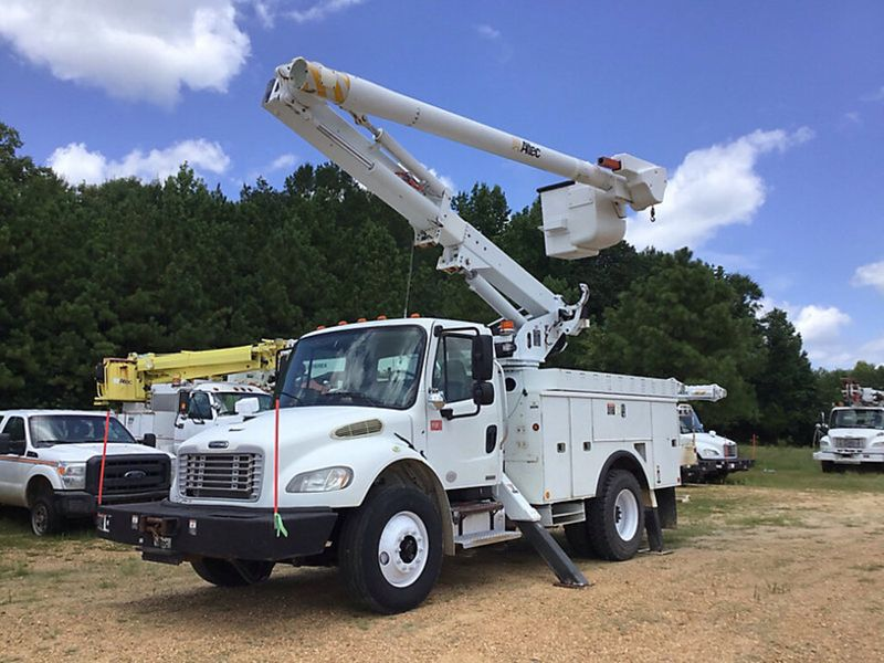 2010 Freightliner M2  ALTEC 47FT BUCKET TRUCK WITH MATERIAL HANDLER  city TX  North Texas Equipment  in Fort Worth, TX