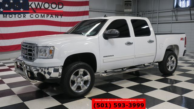 2010 GMC Sierra 1500 SLE 4x4 Z71 White Leather Chrome 20s Lifted Clean