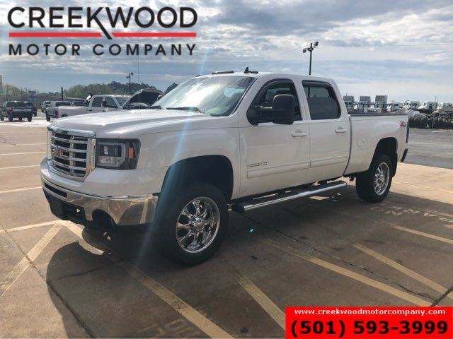 2010 GMC Sierra 2500HD SLT 4x4 Gas White Leather Leveled Chrome 20s CLEAN