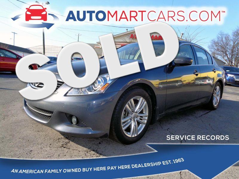 2010 Infiniti G37 Sedan Journey   Nashville, Tennessee   Auto Mart Used Cars Inc. in Nashville Tennessee