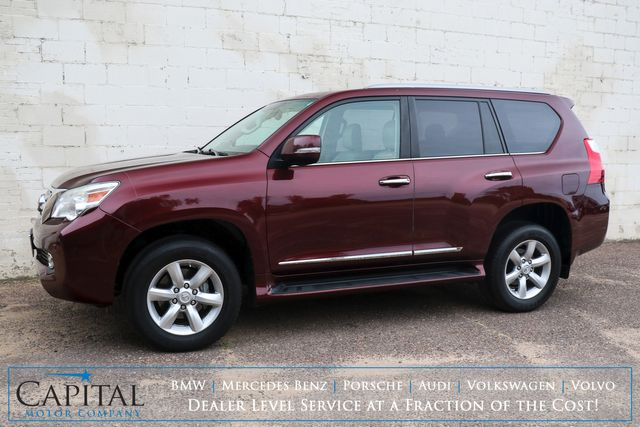 2010 Lexus GX460 4x4 SUV w/3rd Row Seats, Navigation, Backup Cam, Heated/Cooled Seats and Remote Start in Eau Claire, Wisconsin 54703