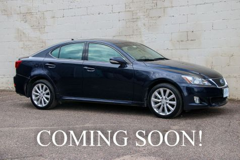 2010 Lexus IS 250 AWD Sport Sedan w/ Heated & Ventilated Seats, Power Moonroof, 13-Speakers, Tinted Windows in Eau Claire