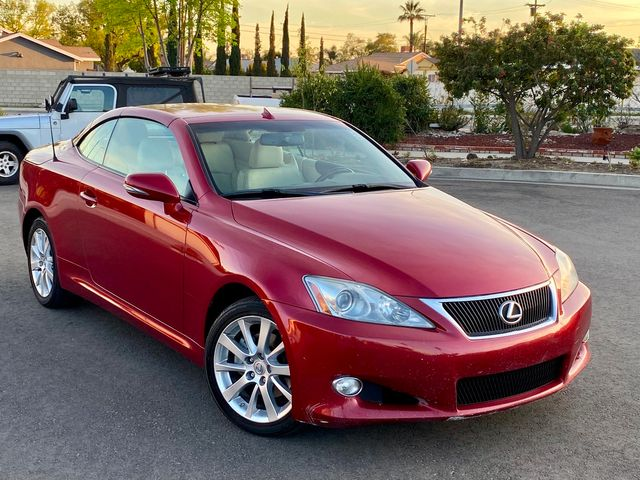 2010 Lexus IS 250C CONVERTIBLE AUTOMATIC LEATHER XENON SERVICE RECORDS in Van Nuys, CA 91406