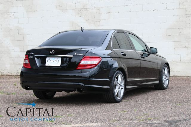 2010 Mercedes-Benz C300 Sport 4MATIC AWD Luxury Car w/ iPod Integration Kit, Bluetooth Phone & Low Miles in Eau Claire, Wisconsin 54703
