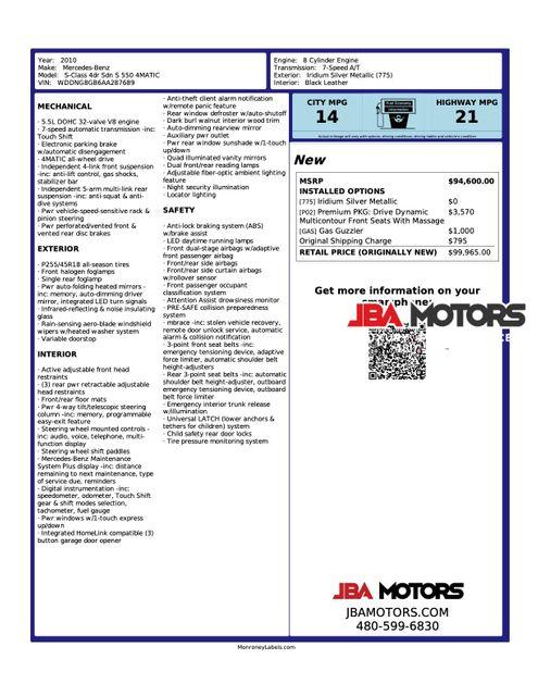 2010 Mercedes-Benz S550 S Class 550 4MATIC AWD Sedan P2 Premium Package in Mesa, AZ 85202