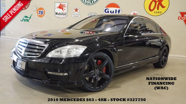2010 Mercedes-Benz S 63 AMG NIGHT VISION,PANO ROOF,NAV,BLK WHLS,48K