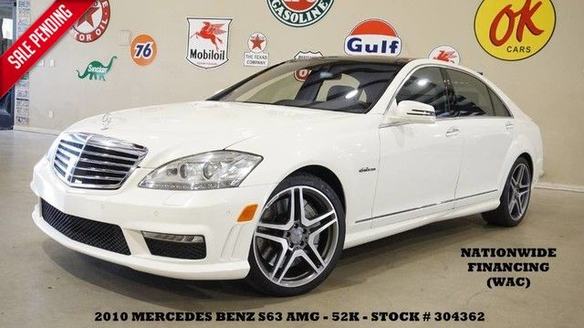 2010 Mercedes-Benz S-Class S 63 AMG NIGHT VISION,PANO ROOF,NAV,HTD/COOL LT...