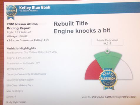 2010 Nissan Altima 2.5 S in Salt Lake City, UT