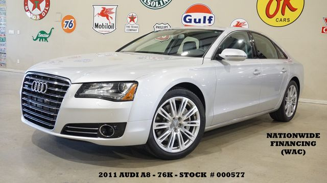 2011 Audi A8 SUNROOF,NAV,BACK-UP CAM,HTD/COOL LTH,20'S,76K!