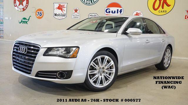 2011 Audi A8 SUNROOF,NAV,BACK-UP CAM,HTD/COOL LTH,20'S,76K