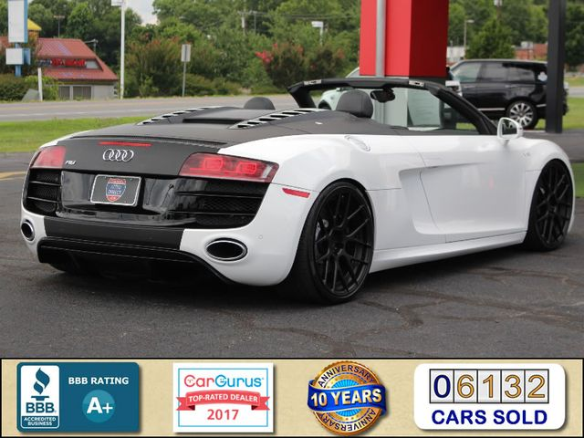 2011 Audi R8 5.2L V10 SPYDER QUATTRO AWD- ADJUSTABLE COILOVERS! Mooresville , NC 2