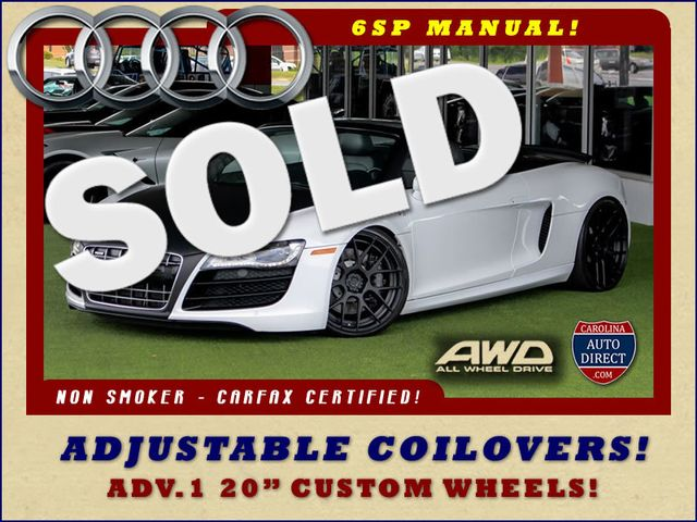 2011 Audi R8 5.2L V10 SPYDER QUATTRO AWD- ADJUSTABLE COILOVERS! Mooresville , NC 0