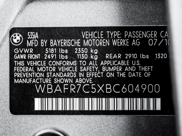 2011 BMW 535i Burbank, CA 31